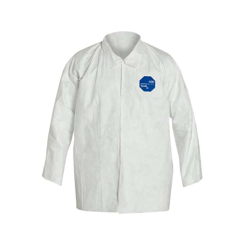 TY303S Series Long Sleeve Shirt with Snap Front and Open Cuffs, White, Small, 50 per Case