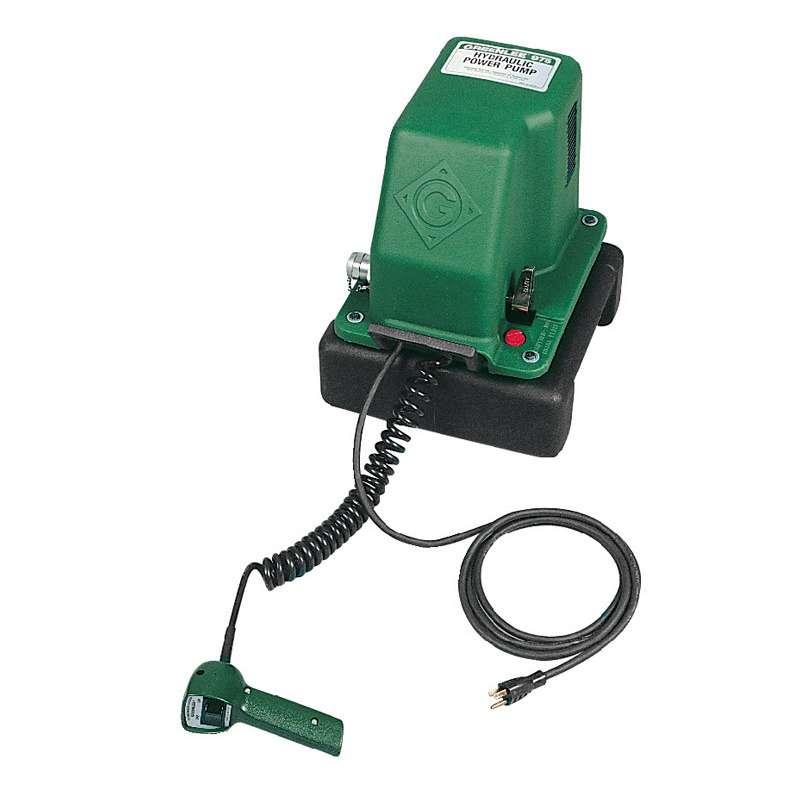 "Electric Hydraulic Pump for Greenlee 2"" Capacity Benders"