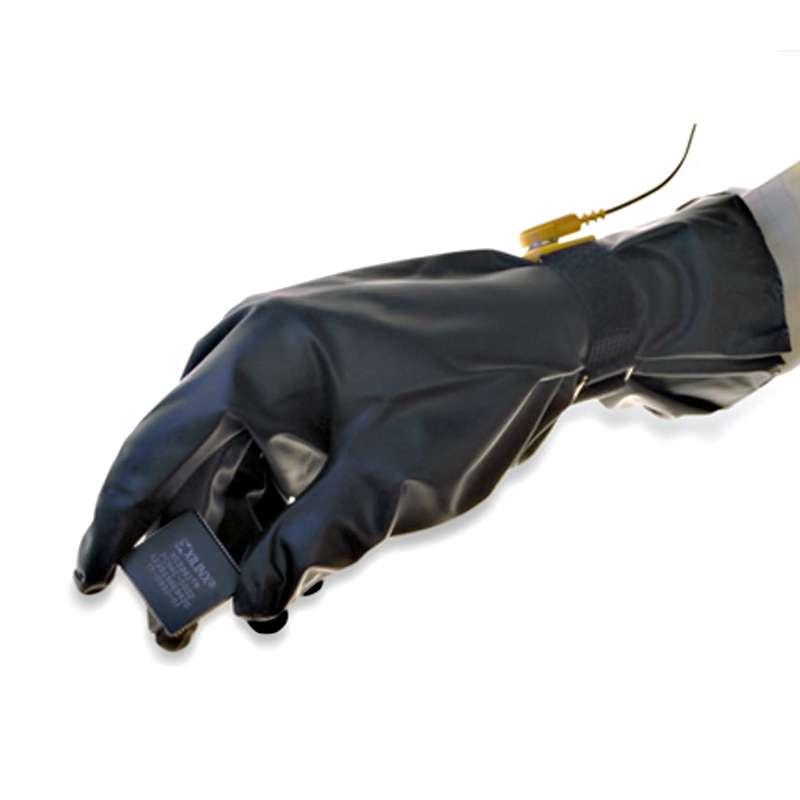 PolyTuff® Polyurethane 4 mil ESD Glove, Class 100, Black, Small, 10/CA