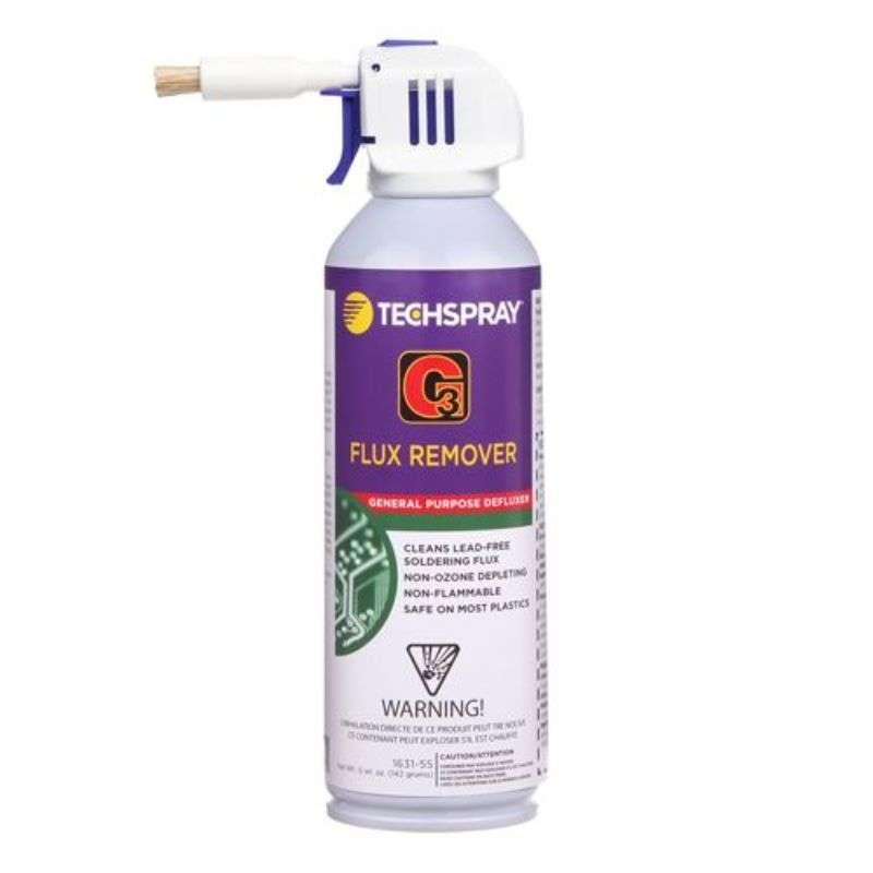 G3® Non-Flammable Solvent Flux Remover, 5oz Aerosol with Brush Attachment