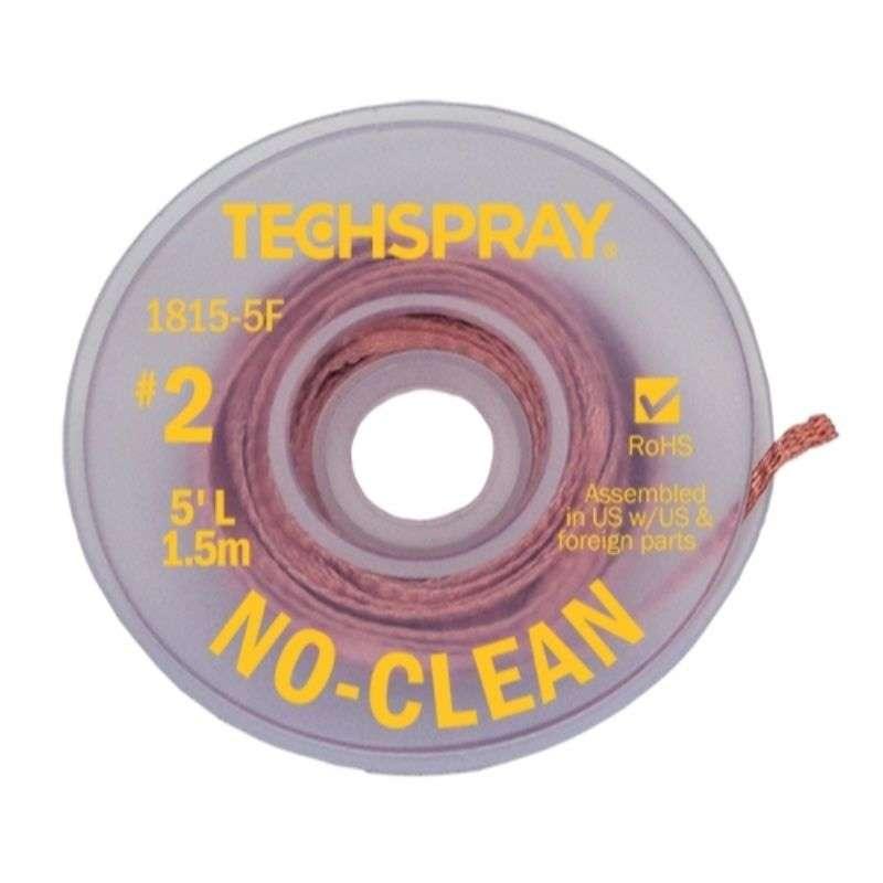 "No-Clean Desoldering Braid, .055"", 5' Yellow Standard Spool"