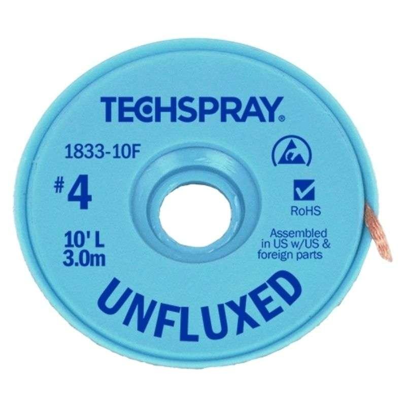 "Unfluxed Desoldering Braid .098"" x 10' Blue ESD Spool"