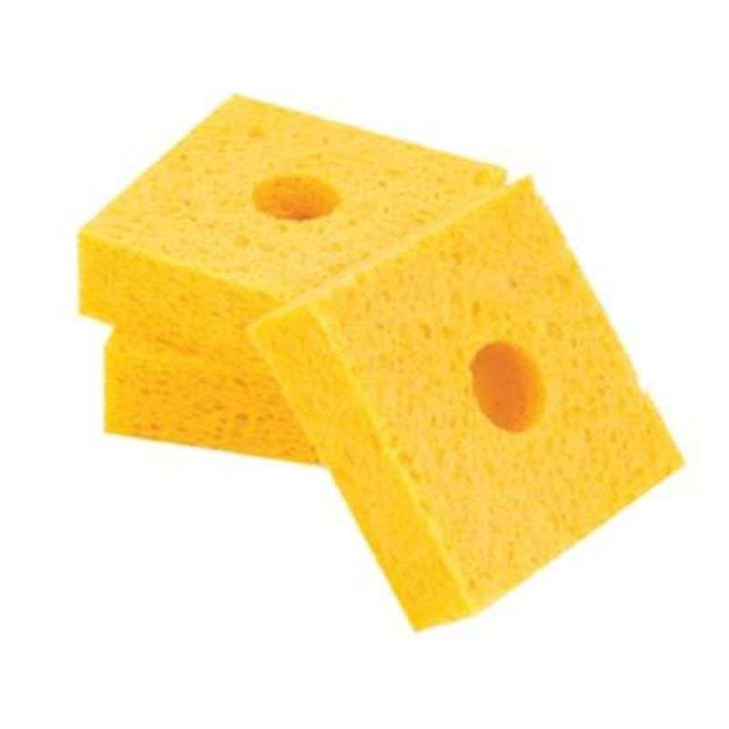 "Solder Tip Cleaning Sponge with Center Hole, 2-11/16 x 2-11/16 x 1"", 10 per Pac"