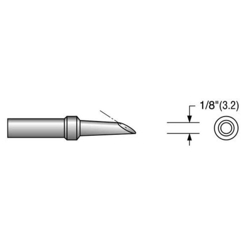 "Desoldering Tip, Alternate for Hakko A1002, .030"""