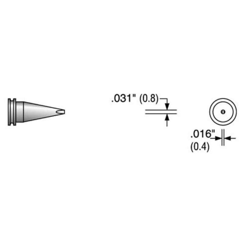 Replacement Screwdriver Soldering Tip for Weller Series Tips, 0.8mm